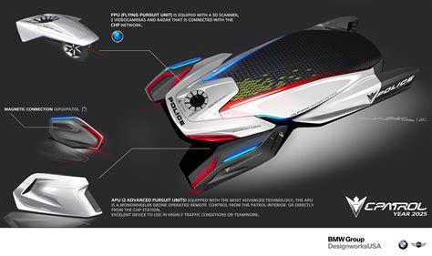 concept design designworksusa e patrol futuristic human drone pursuit