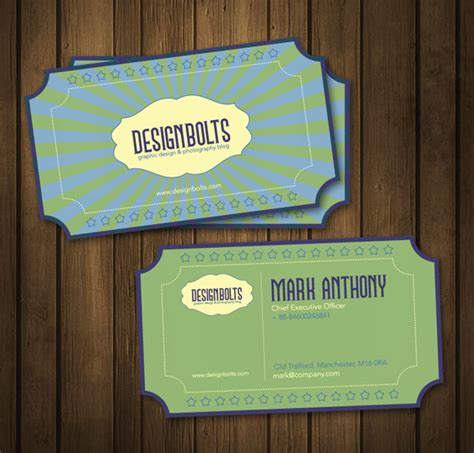 retro business card template beautiful free retro business card design template in