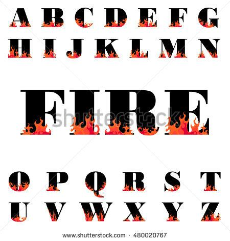 fire pattern font fire font stock images royalty free images vectors