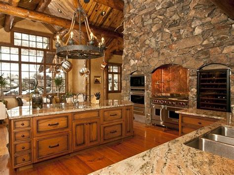 log home luxury kitchen the future house
