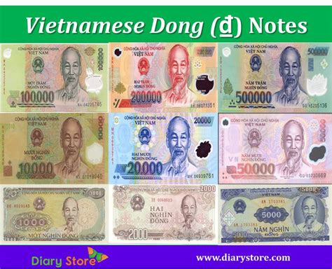 currency vnd dong vnd currency notes diary store