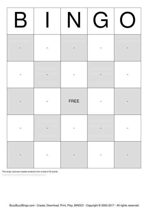 bingo template pdf bingo cards to print and customize