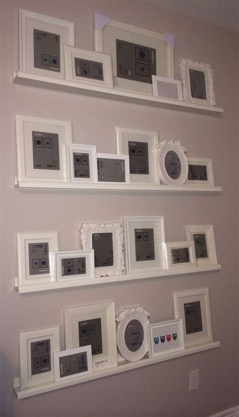 picture ledge ideas gallery wall ikea picture ledges frames just need to add the pics decor ideas