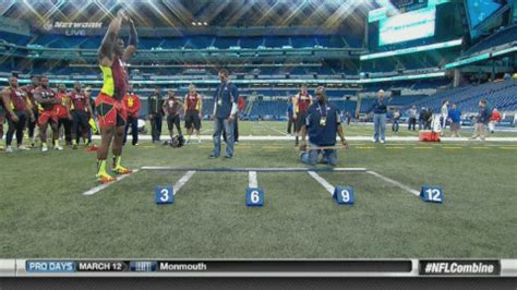 40 Meters In Feet by Nfl Combine Most Impressive Standing Long Jump