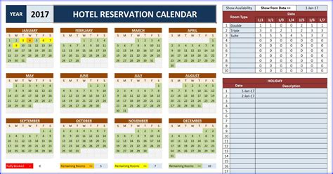 Room Booking Calendar For Excel Excelindo Reservation Calendar Template