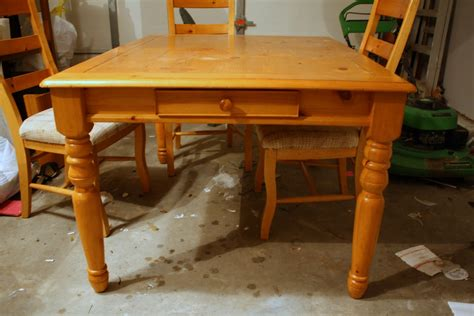 How To Refinish A Dining Room Table by Shannon Claire Refinishing The Dining Room Table