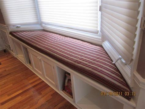 bay window bench seat cushion window seat storage bench cushion images hand crafted