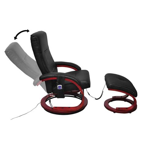 electric massage recliner chair electric tv recliner massage chair black with a footstool