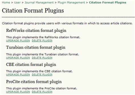Citation Template citation format plugins