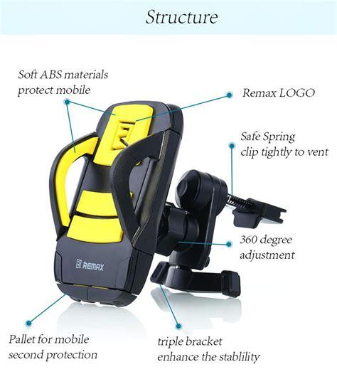 Remax Air Vent Rm C13 Blackyellow remax rm 03 car mount holder