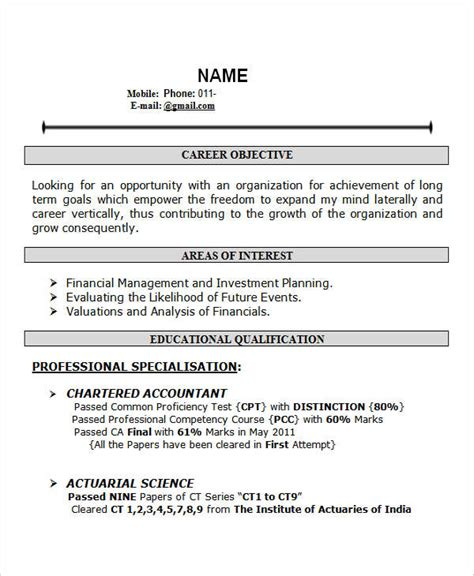 resume templates for freshers india 28 free fresher resume templates free premium templates