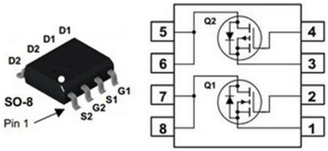 Am4512c mosfet n p channel so 8 package