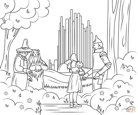 wizard of oz emerald city coloring page free printable
