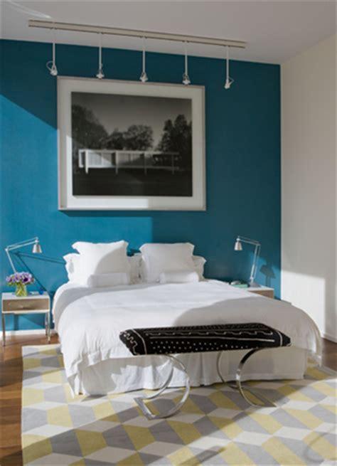 idea accents dormitorios en color turquesa y blanco ideas para