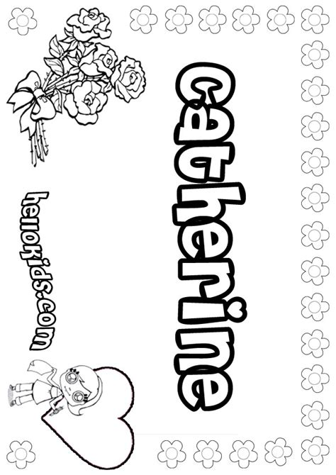 coloring pages of girl names girls name coloring pages catherine girly name to color