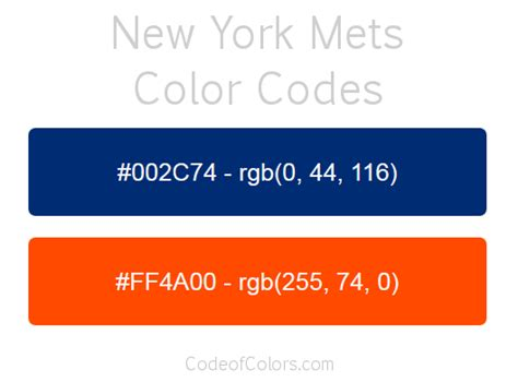 ny mets colors new york mets colors hex and rgb color codes
