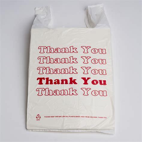 Plastik Thank You quot thank you quot plastic bags white a b store fixtures