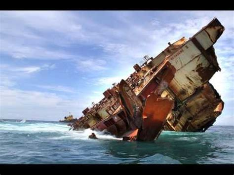 biggest boat ever sunk cargo ships sinking container ships sinking youtube