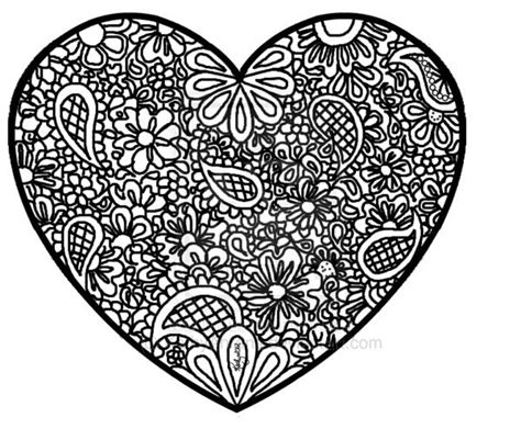 abstract heart coloring pages coloring pinterest
