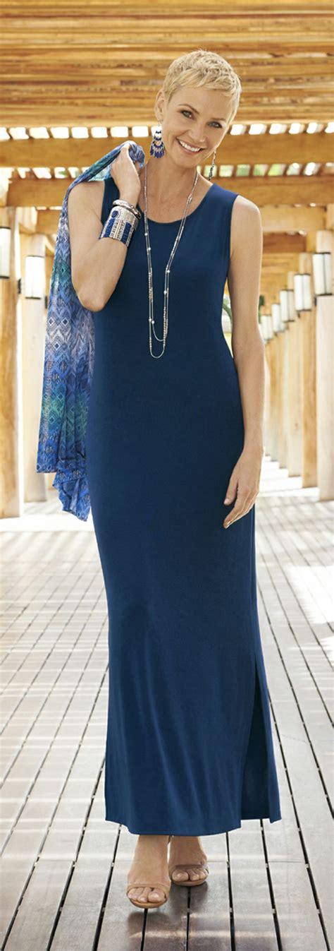 Longdress Chicos chico s travelers classic maxi dress the figure flattering swing of a sleeveless maxi dress