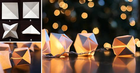 Paper Cube String Lights Don - how to make paper cube string lights diy crafts