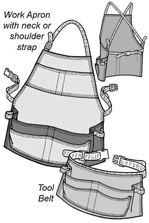 536 – Work Apron & Tool Belt Pattern | Apron sewing