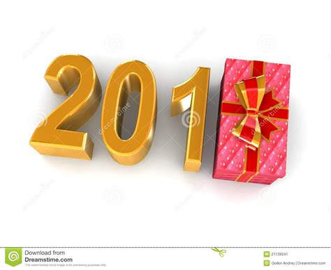 gift for new year new years gift 2012 stock image image 21136041