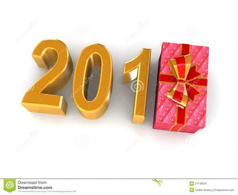 new years gift new years gift 2012 stock image image 21136041