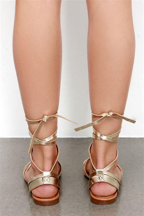 leg wrap sandals gold sandals leg wrap sandals flat sandals 21 00