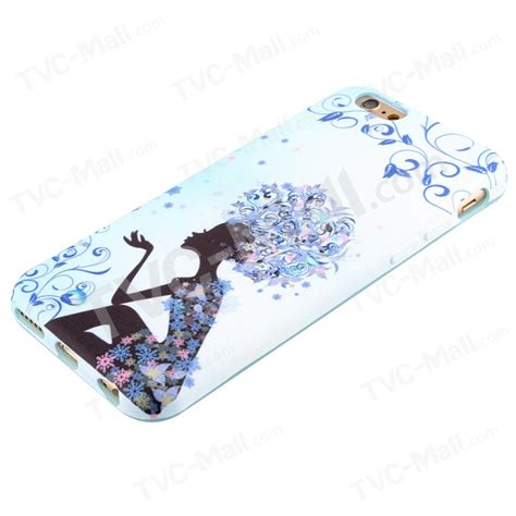 Iphone 6 6s Pretty Ribbon Soft cloth coated soft silicone for iphone 6s 6 pretty blue flowers tvc mall