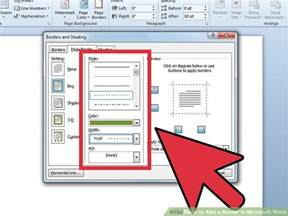 how to add a border in microsoft word 5 steps with pictures