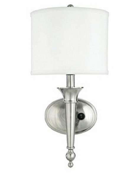 Brushed Nickel Sconce Unique Brushed Nickel Wall Sconce With Shade Ebay