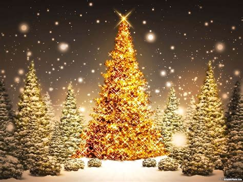 gold christmas tree powerpoint background graphicpanic com