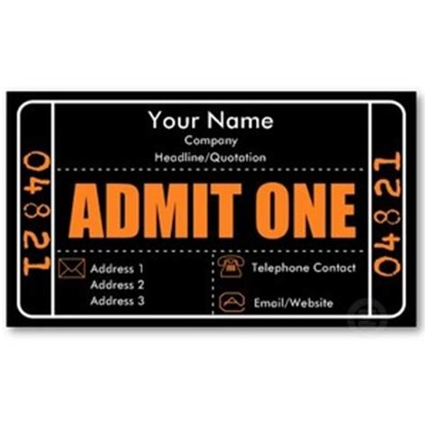 admit one ticket invitation template admit one ticket template