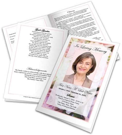 funeral booklet templates celebration of service programs celebration