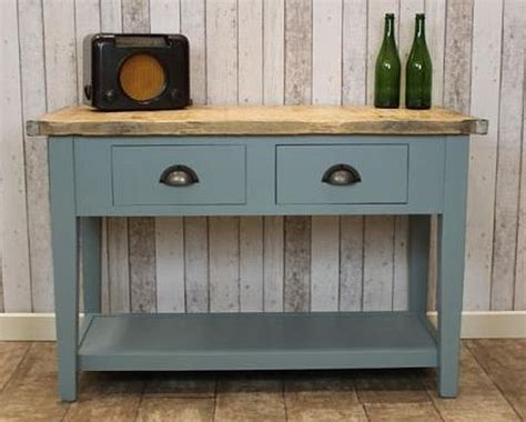 Vintage Style Sideboard industrial bleached top sideboard available in two sizes base in any