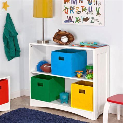horizontal bookcase white riverridge horizontal 2 shelf bookcase in white 02