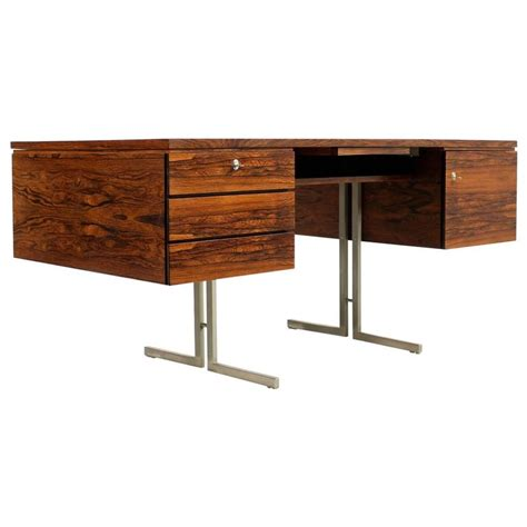 Modern Steel Desk Amazing 1960s Mid Century Modern Writing Table Rosewood And Steel Desk Minimalist For Sale At