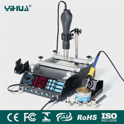Hm 8 Iron 3in1 yihua 853aaa bga rework station smd air gun soldering irons preheating station functions