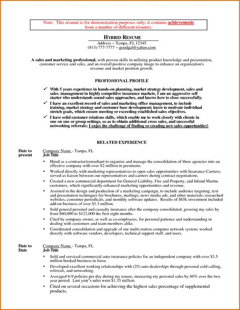 Hybrid Resume Template by 6 Hybrid Resume Template Lease Template