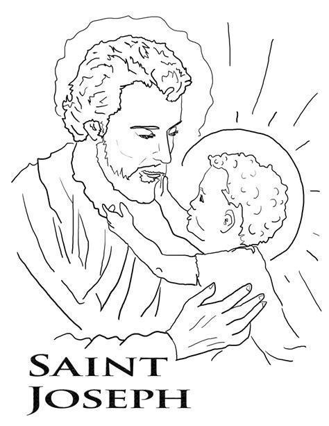 St Joseph Coloring Page Feast Of St Joseph Patron Coloring Pages Of Saints