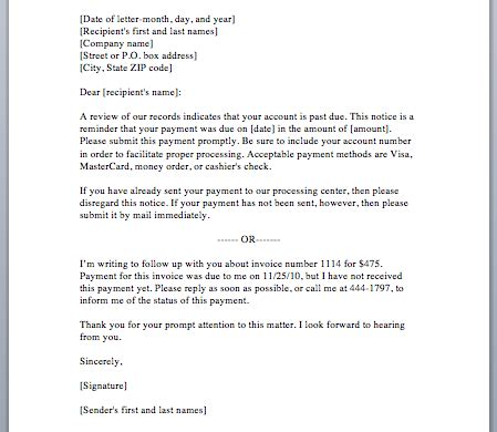Writing A Payment Reminder Letter Reminder Letter Format Best Template Collection