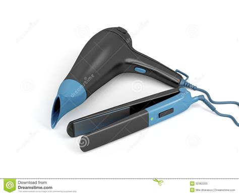 Dryer And Hair Straightener hair dryer and hair straightener stock photos image 32382203
