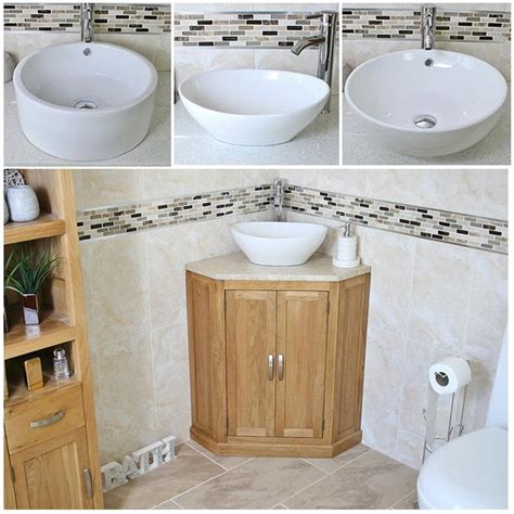 bathroom corner vanity unit bathroom vanity unit oak corner wash stand travertine