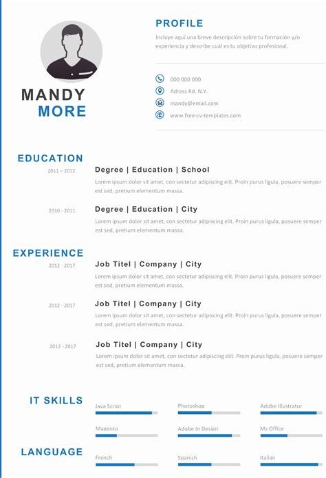 Resume Template Illustrator by 14 Awesome Adobe Illustrator Resume Template Resume