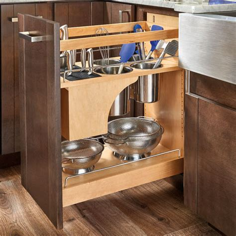 kitchen utensils storage cabinet rev a shelf pull out knife and utensil base cabinet