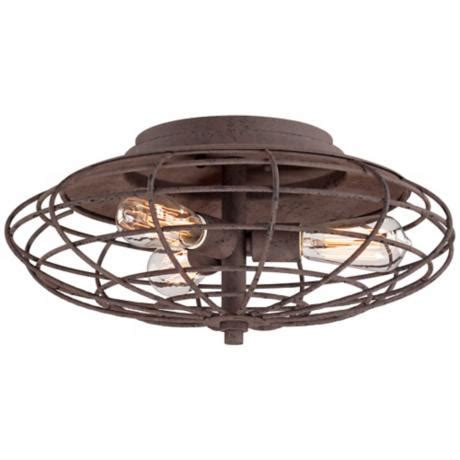 industrial cage rust 8 1 2 quot high ceiling light