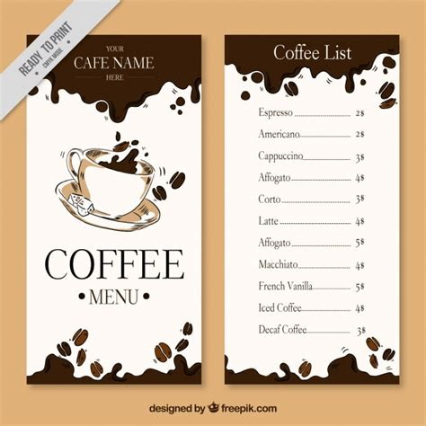 Menu Coffee Toffee cafe menu vectors photos and psd files free