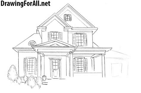 drawing house how to draw a house for beginners drawingforall net