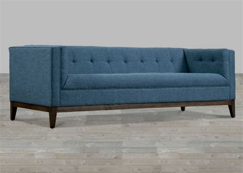 Blue Tufted Sofa Zara Fabric Tufted Sofa With Chrome Legs Tufted Blue Sofa